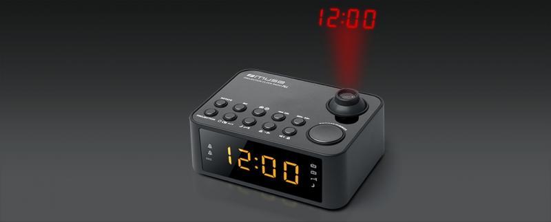 RADIO DESPERTADOR CON PROYECCIÓN, RADIO PLL CON ALARMA DUAL MOD. M178