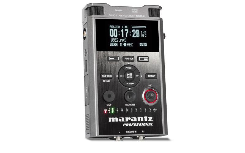 MARANTZ PMD-561 - Equipo portátil MARANTZ PMD-561 de grabación y reproducción de audio directamente en tarjetas de memoria SD/SDHC.