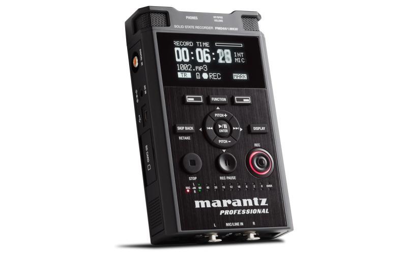 MARANTZ PMD-661 MK III - Equipo portátil MARANTZ PMD-661 MK III de grabación y reproducción de audio directamente en tarjetas de memoria SD/SDHC.
