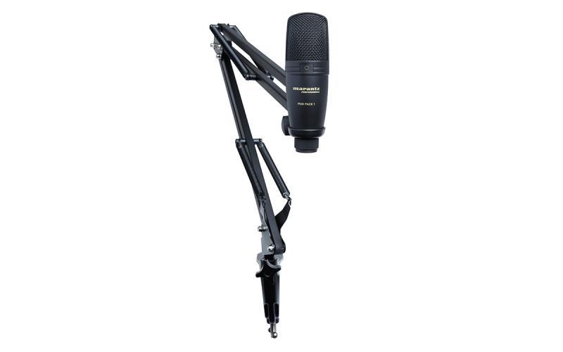 MARANTZ POD PACK 1 - MARANTZ POD PACK 1 Kit que incluye micrófono USB de condensador y brazo de suspensión ajustable. Especialmente diseñado para podcasting.
