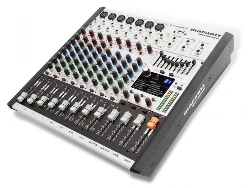 MARANTZ SOUND LIVE 12 - Mesa de mezclas de 12 canales y 2 buses MARANTZ SOUND LIVE 12.