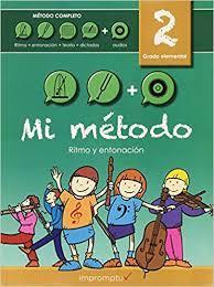 LIBRO MUSICAL MI MÉTODO VOLUMEN 2 + 2 CD RITMO ENTONACIÓN TEORÍA