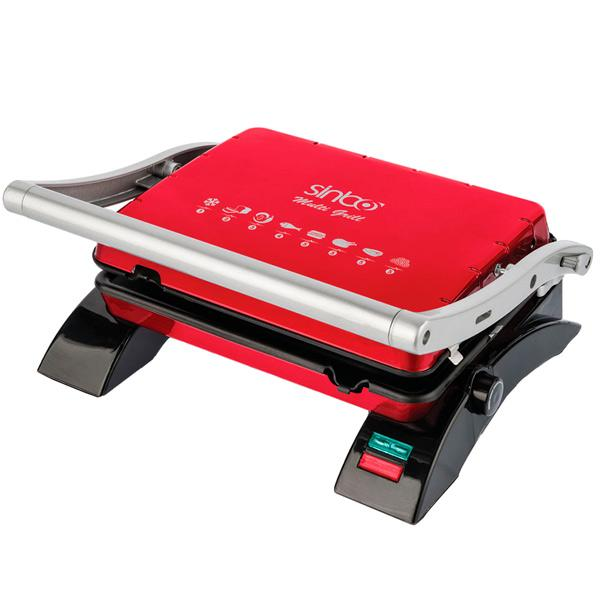 GRILL ELECTRICO SINBO 2000W COLOR ROJO