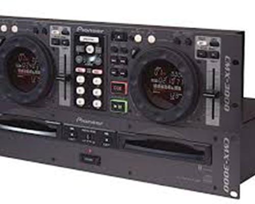 LECTOR PROFESIONAL DE C.D TWIN CMX-3000 - Lector de CD doble para DJ professionales y domésticos con slot-in y emergency loop.