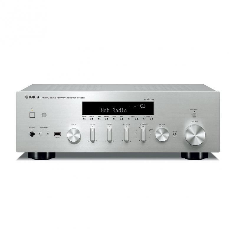 MUSIC CAST R-N602 - El R-N602 es un receptor y un reproductor de audio en red en una sola unidad. Puede usarlo para reproducir fácilmente las fuentes de audio descargadas de Internet y almacenadas en un PC o sistema NAS.