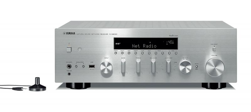 RECEPTOR ESTEREO EN RED YAMAHA MUSICCAST RN-803D 2x100W USB COLOR PLATA
