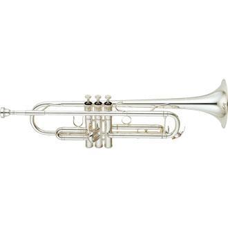 TROMPETA YAMAHA YTR-6345G PLATEADA - La 6345G cuenta con un orificio de gran tamaño y una campana de latón dorado, destaca por su sonido imponente y resulta ideal para aquellos que buscan un instrumento versátil con un sonido que les permita tocar en cualquier grupo o formación musical.
