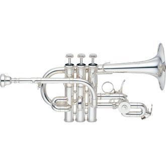 TROMPETA PICCOLO Bb/A YAMAHA YTR-9825 - El YTR-9825 es una trompeta piccolo personalizada con tres válvulas de pistón para crear un tono de luz brillante.